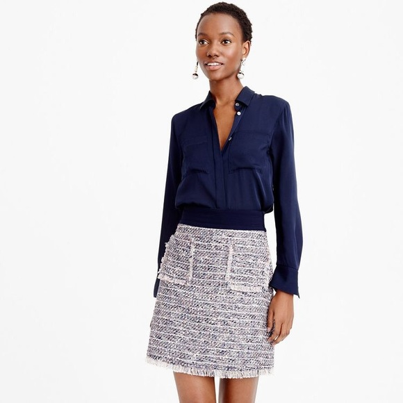 J. Crew Dresses & Skirts - J Crew Tweed Mini Skirt